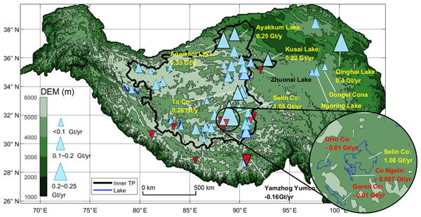 High-temporal-resolution water level and storage change data sets for lakes on the Tibetan Plateau during 2000-2017