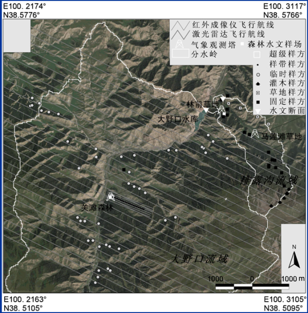 WATER: Dataset of forest structure parameter measurements for the fixed forest sampling plots in the Dayekou and Pailugou watershed foci experimental areas (2003-3007)