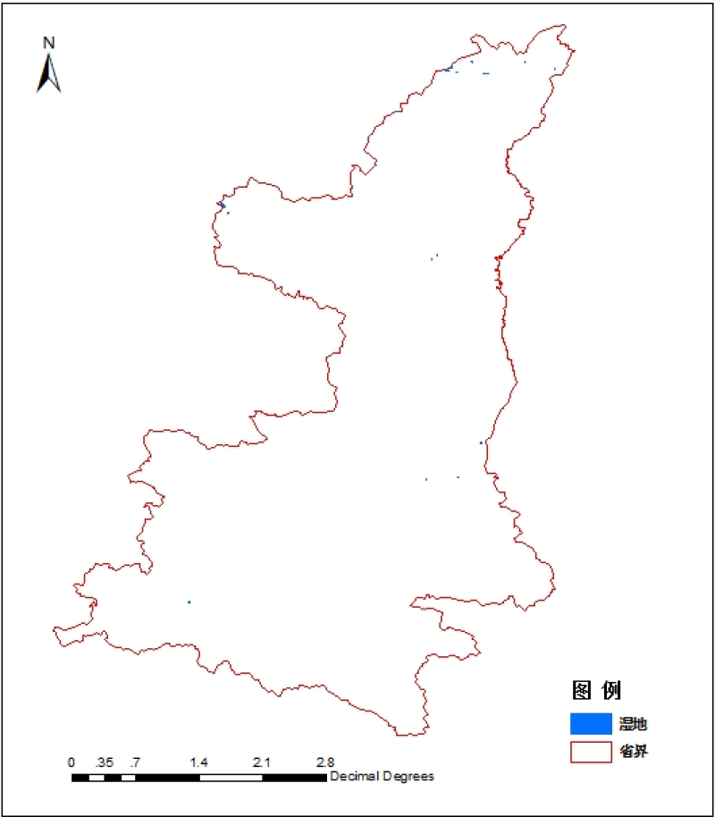1:1 million wetland data of Shanxi Province
