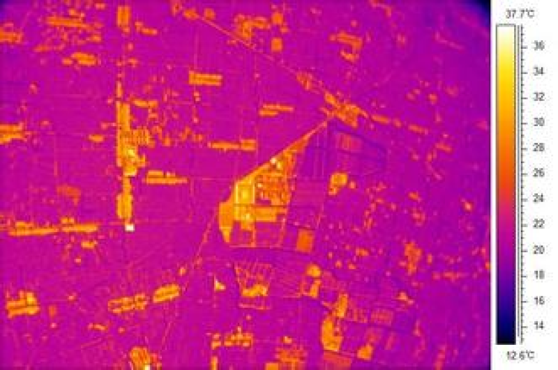 Thermal imaging data of corn and vegetable fields in the middle reaches of Heihe River (2012)