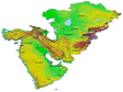 Basic geographic dataset of resources and environment in Central and Western Asia Region