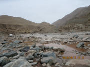 The river flow in Hulugou catchment catchment from May to Sep , 2016