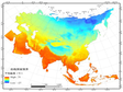 Dataset of  the multi-year average of temperature  for the Green Silk Road (2010) V1.0