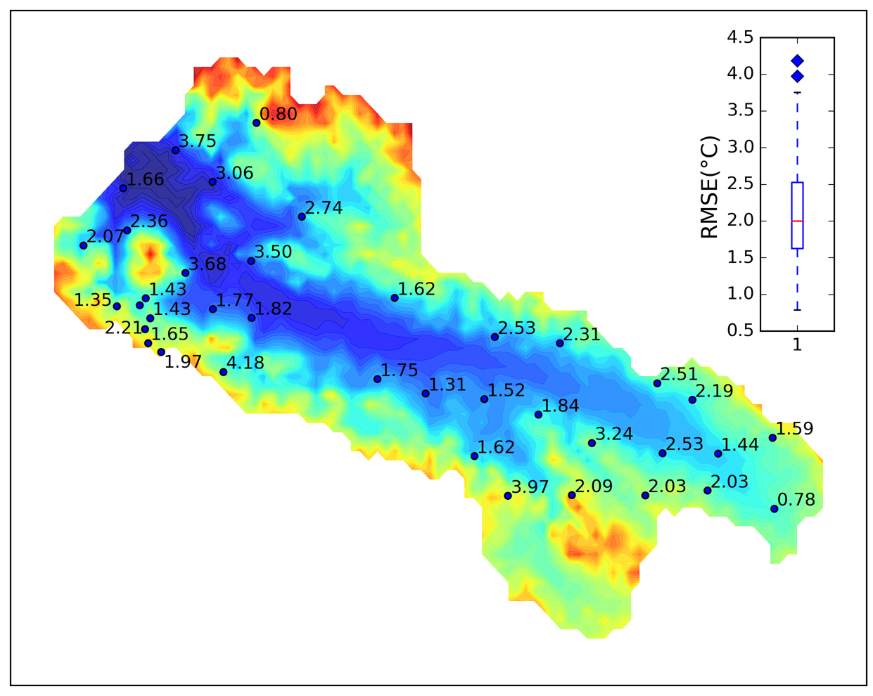 Simulated soil temperature and moisture in the Babao River Basin