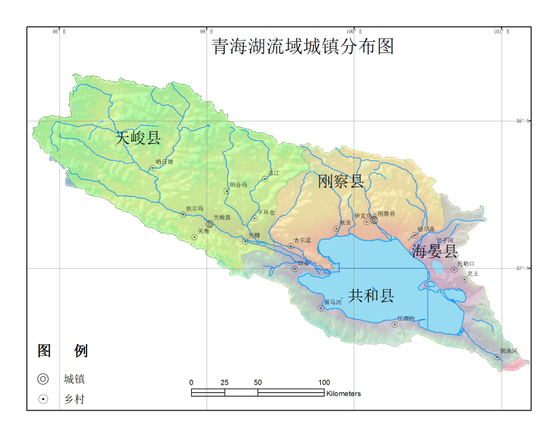 Distribution dataset of 1:250000 residential areas in Qinghai lake basin (2000)