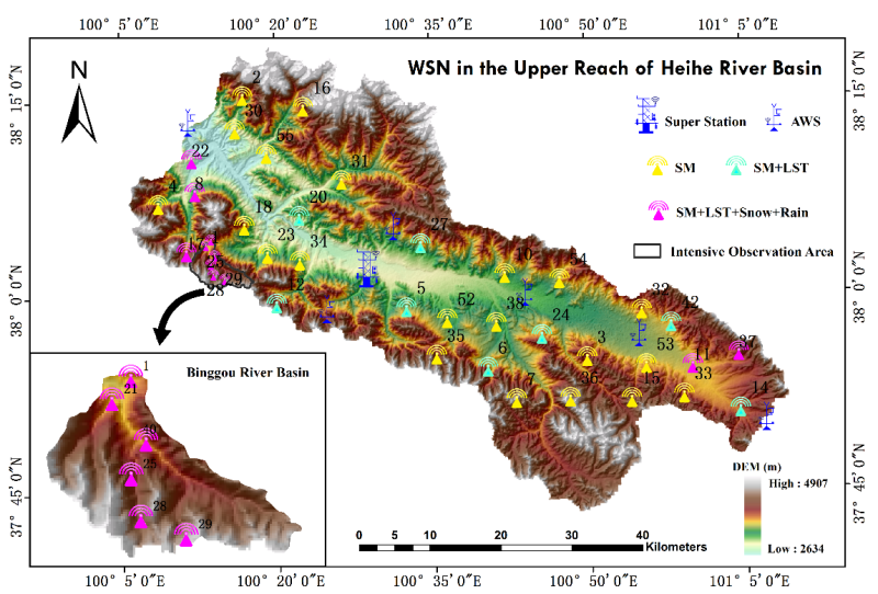 HiWATER: WATERNET observation dataset in the upper reaches of the Heihe River Basin (2014)