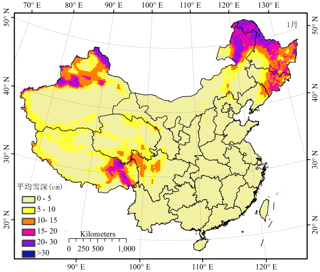 Long-term series of daily snow depth dataset in China (1979-2019)