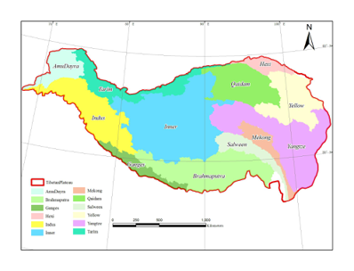 Dataset of river basins map over the TP(2016)