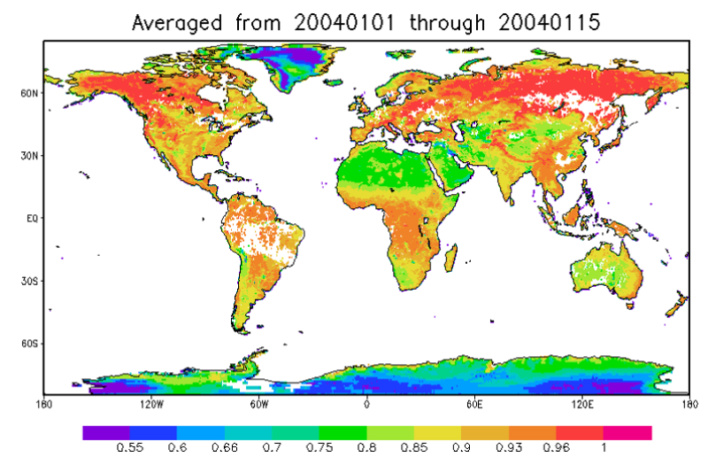 Global land surface microwave emissivity dataset from AMSR-E (2002-2012)