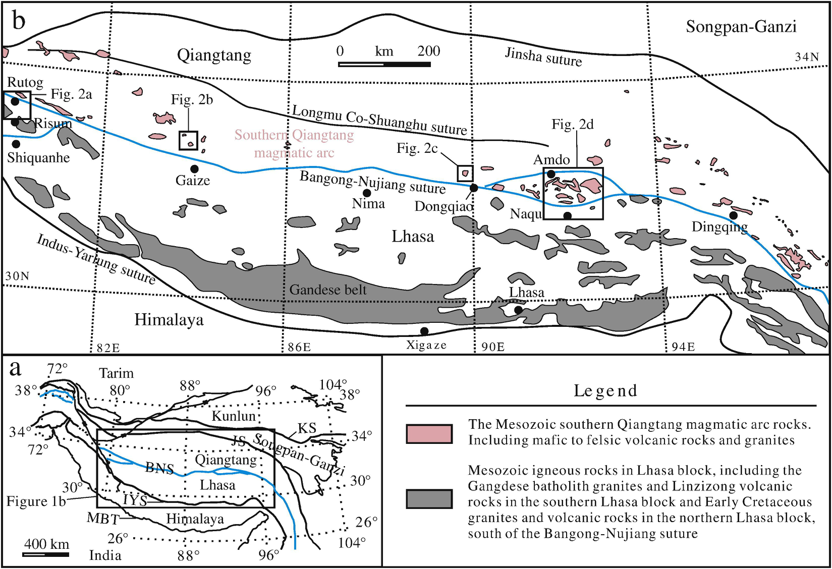 The Zircon Hf isotope of tranites in South Qiangtang of the Tibetan Plateau (2014)