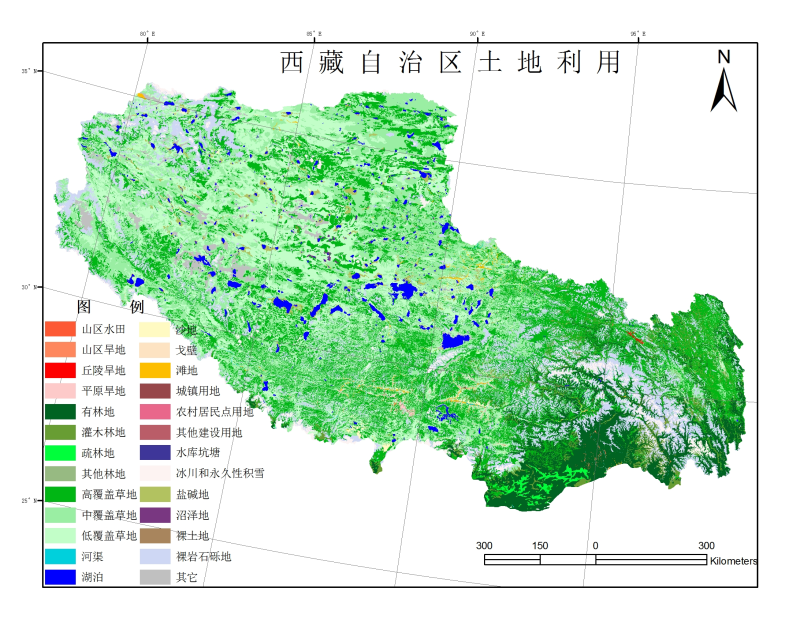 1:100,000 land use dataset of Tibet Autonomous Region (1995)