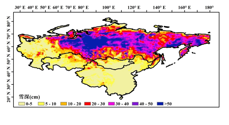 Long-term series of daily snow depth in Euroasia (1980-2016)