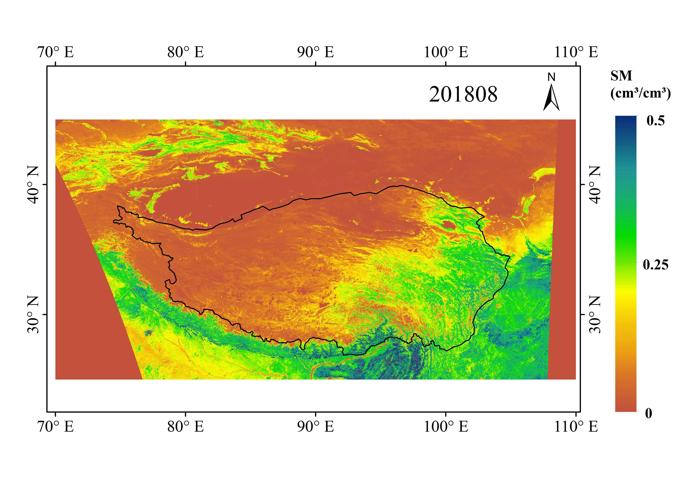 Daily 0.01°×0.01° Land Surface Soil Moisture Dataset of the Qinghai-Tibet Plateau (SMHiRes, V1)